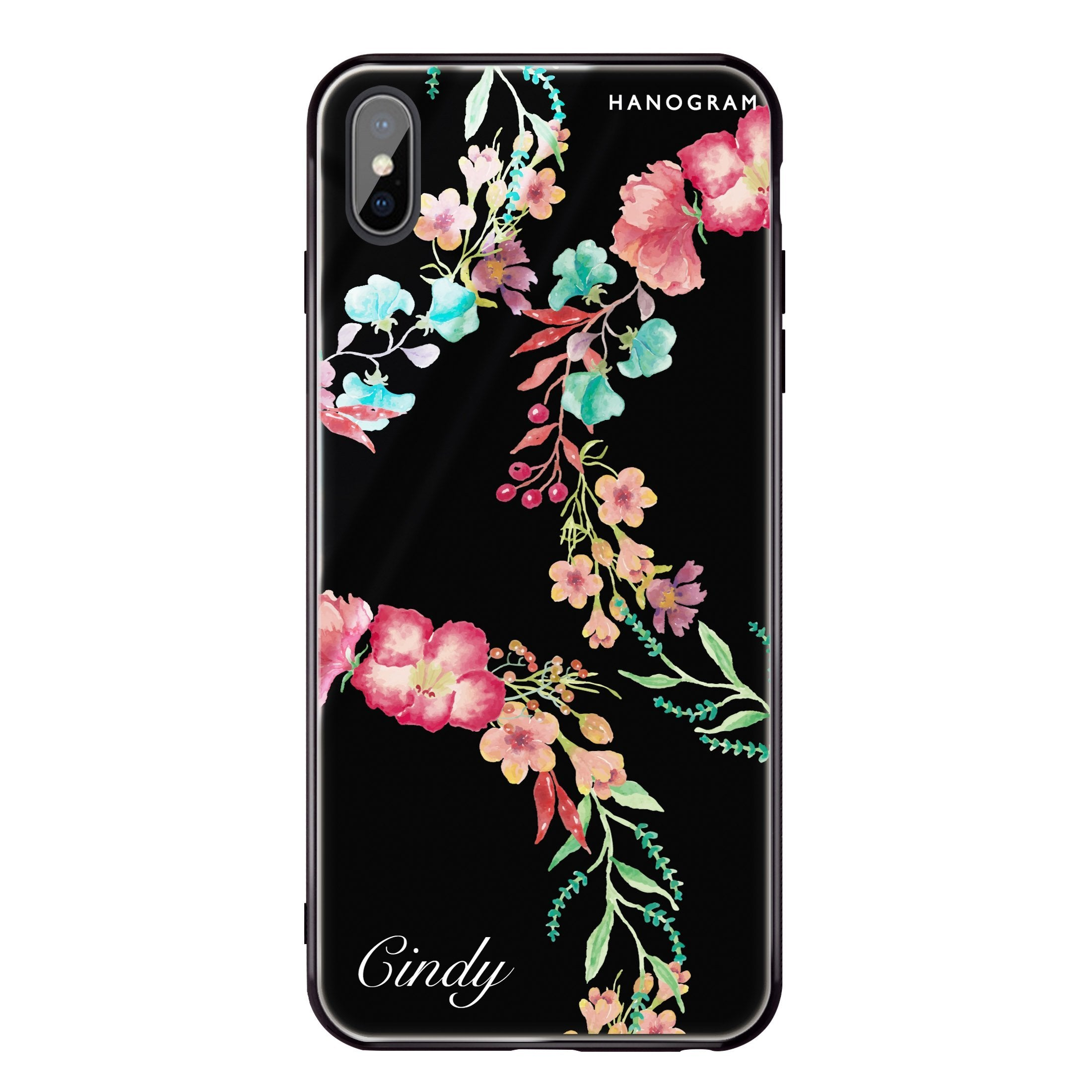 huge selection of 53f54 2b01c Spring Flowers iPhone X Glass Case