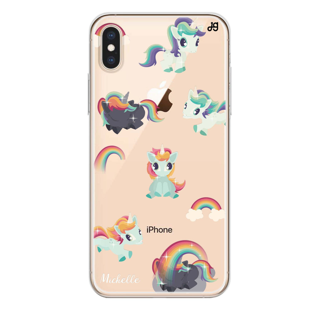 Unicorn & Rainbow iPhone XS Soft Clear Case