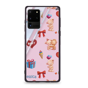Cute Bear Present Samsung Glass Case