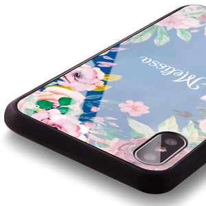 Floral Dream II Princess Blue Glass Case