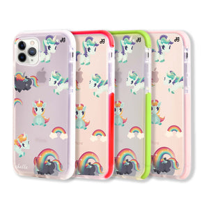 Unicorn & Rainbow Frosted Bumper Case