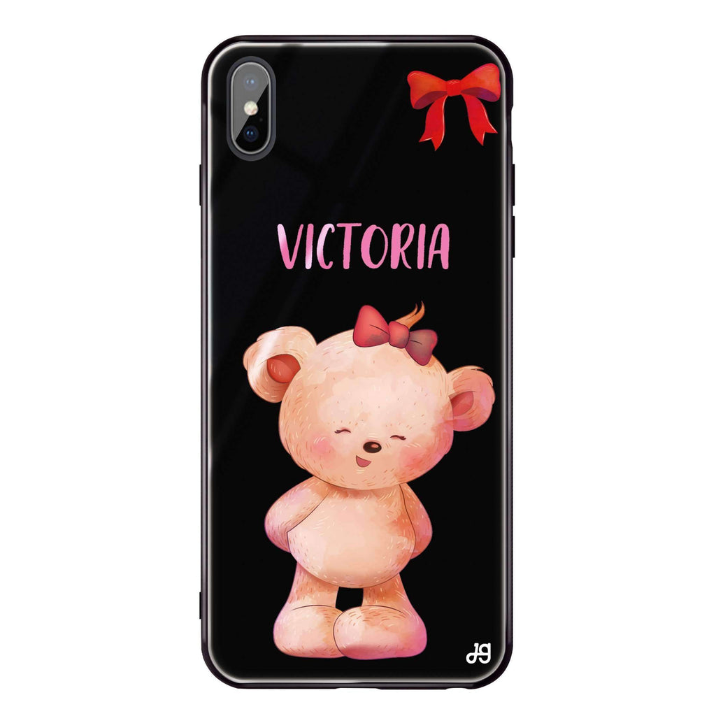 Bear Lovely iPhone XS Max Glass Case