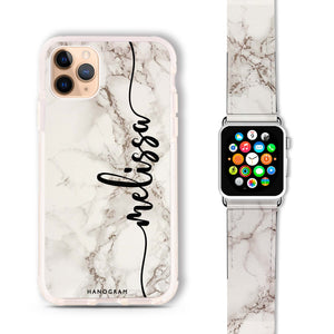 Marble Edition V - Frosted Bumper Case and Watch Band