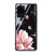 Black Marble & Floral Samsung Glass Case