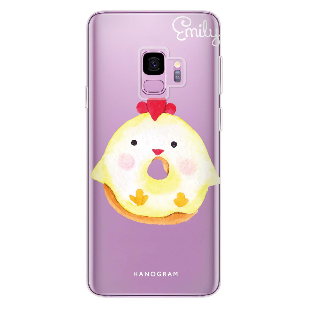 Sweet donut chick Samsung S9 Soft Clear Case