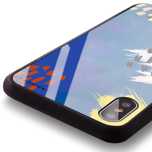 Trendy Abstract I Princess Blue Glass Case
