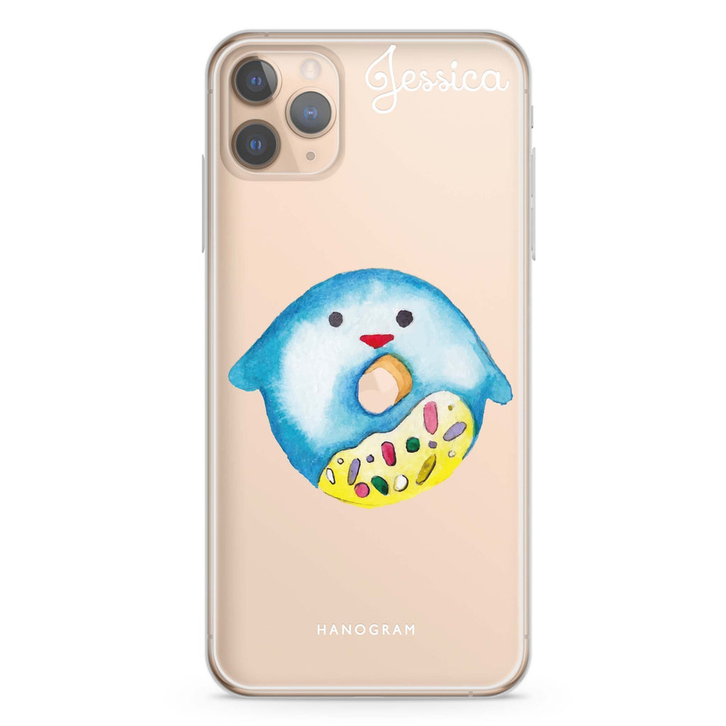Sweet donut penguin iPhone 11 Pro Max Soft Clear Case