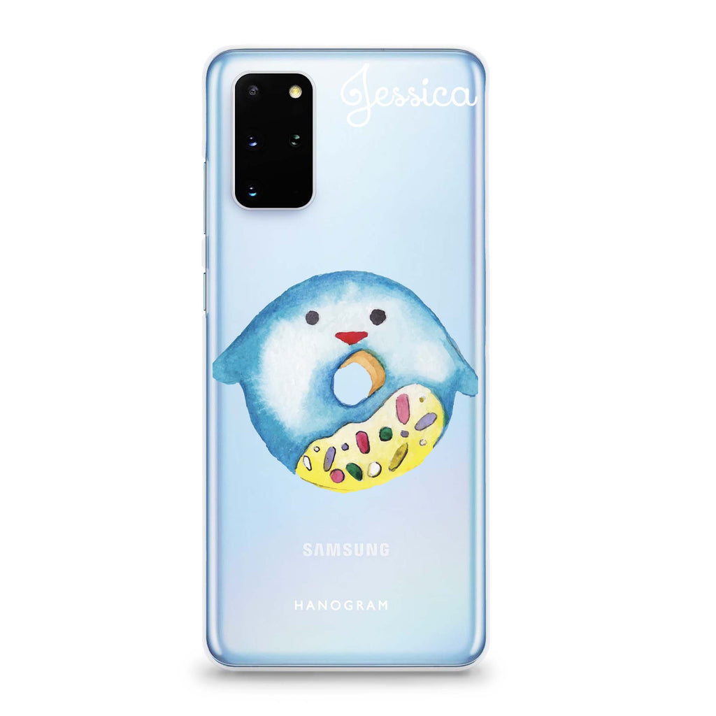 Sweet donut penguin Samsung S20 Soft Clear Case