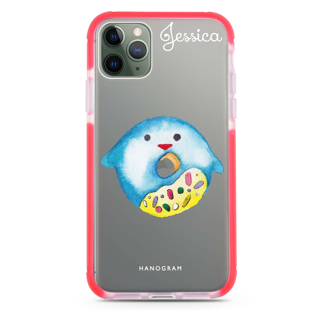 Sweet donut penguin Shockproof Bumper Case