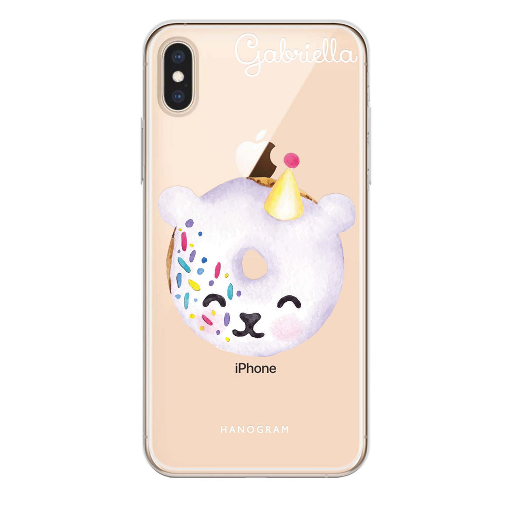Sweet donut bear iPhone XS Soft Clear Case