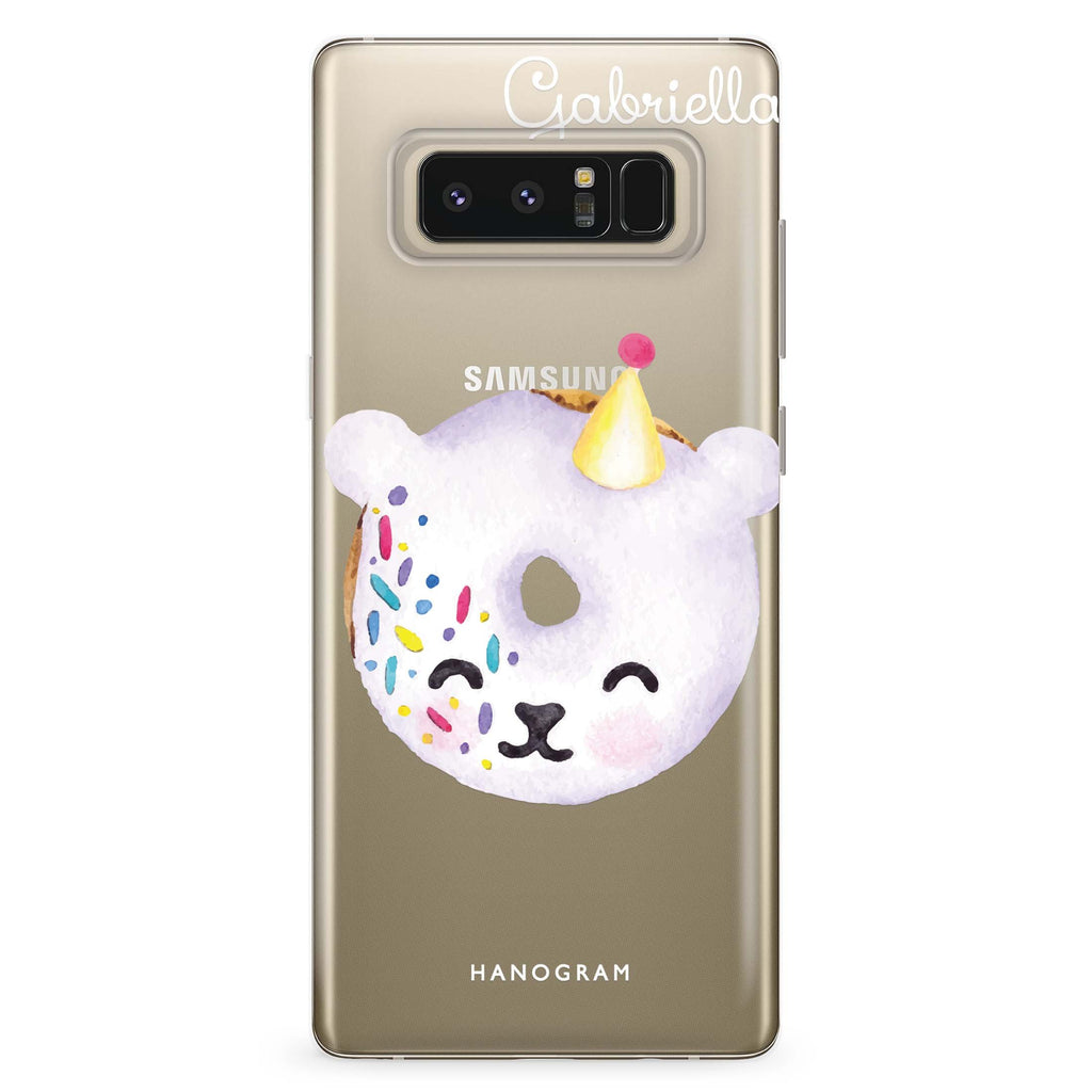 Sweet donut bear Samsung Note 8 Soft Clear Case