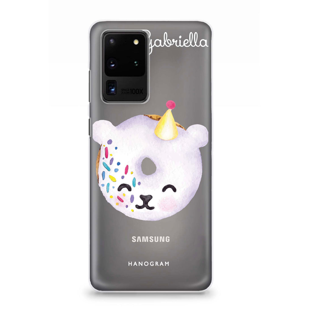 Sweet donut bear Samsung S20 Ultra Soft Clear Case