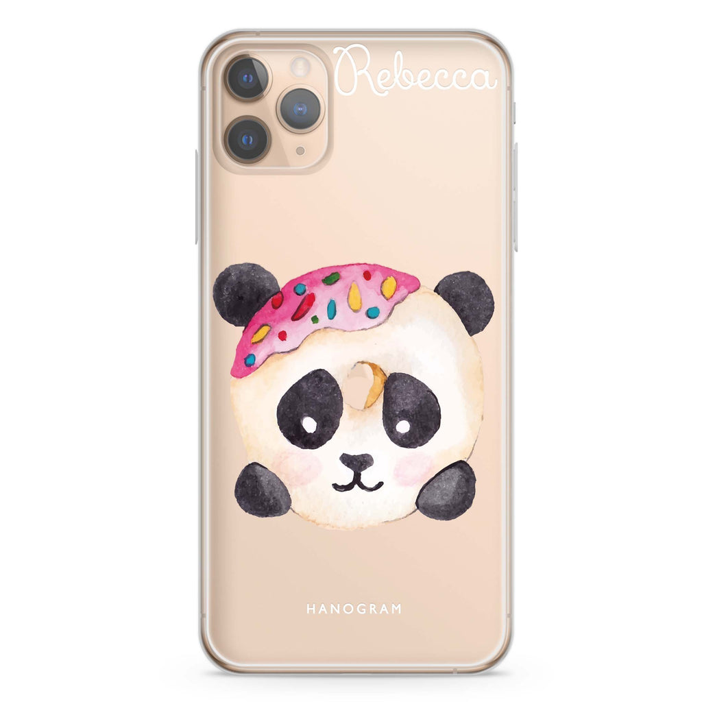 Sweet donut panda iPhone 11 Pro Max Soft Clear Case