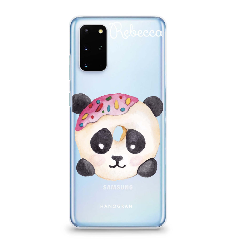 Sweet donut panda Samsung S20 Soft Clear Case