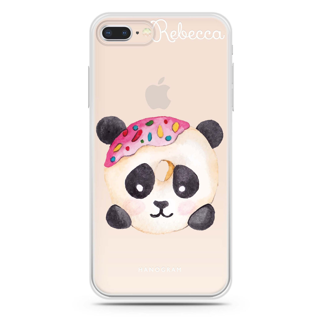 Sweet donut panda iPhone 7 Plus Soft Clear Case