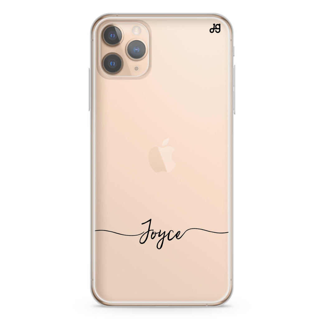 Initial handwritten iPhone 11 Pro Max Soft Clear Case
