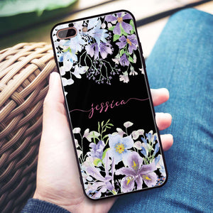 Flowers Bloom iPhone 8 Plus Glass Case