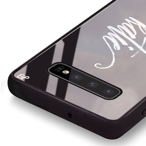 Vintage Writing Samsung S10 Plus Glass Case