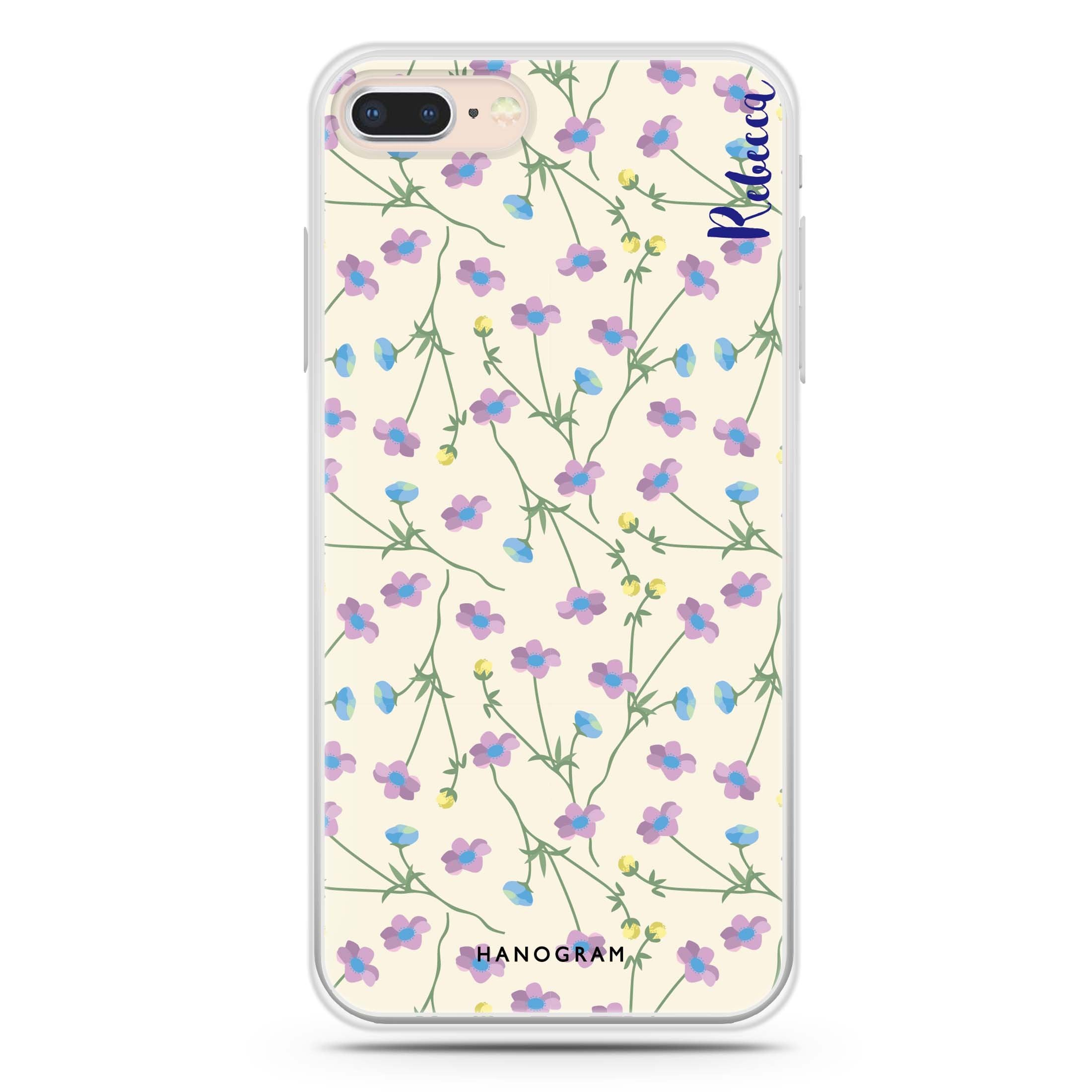 Girly Floral Iphone 7 Plus Soft Case Custom Phone Case