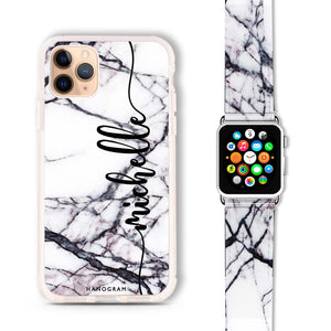 Marble Edition VI - Frosted Bumper Case and Watch Band