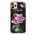 Black Marble Rose Shockproof Bumper Case