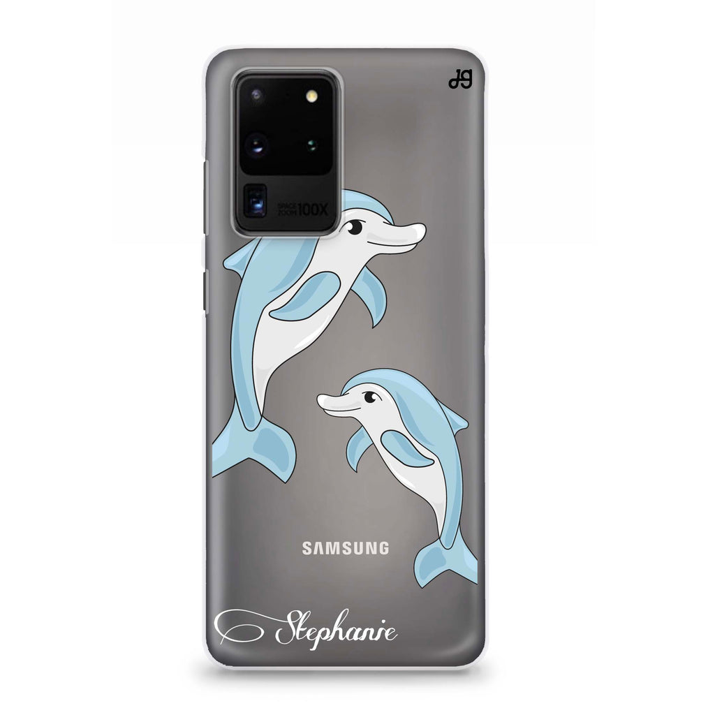 Twins dolphin Samsung S20 Ultra Soft Clear Case