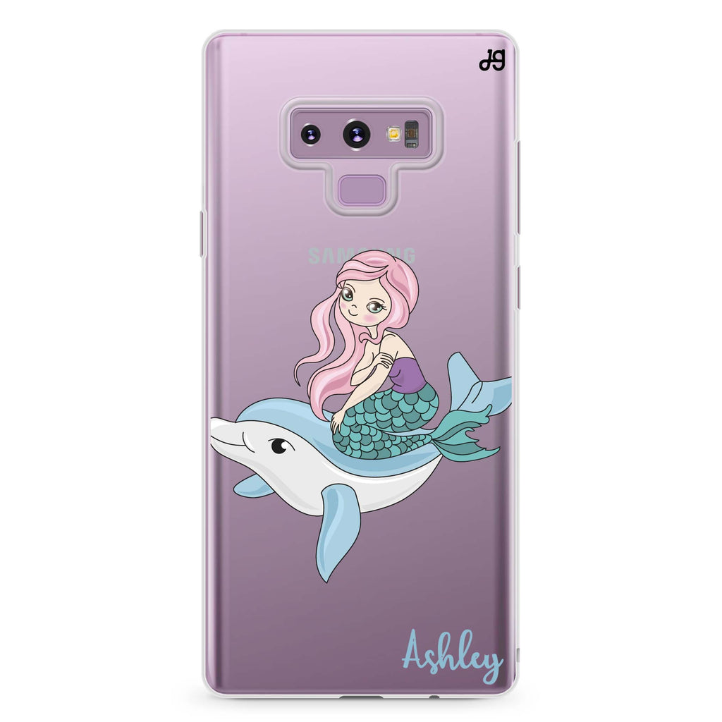 Dolphin with Mermaids Samsung Note 9 Soft Clear Case