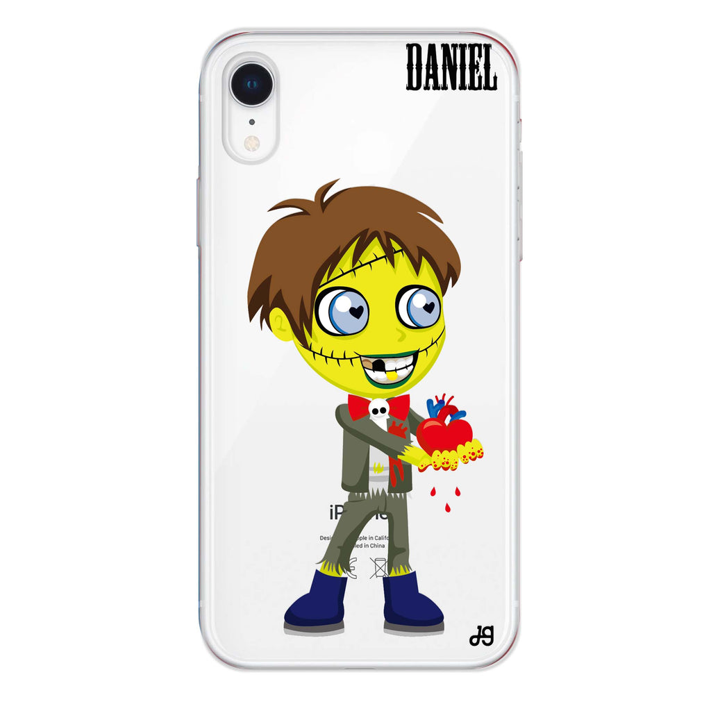 Zombie Love's boy iPhone XR Soft Clear Case