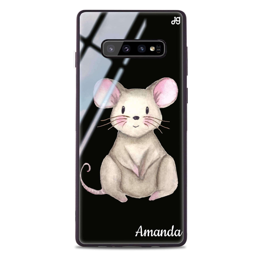 Little Mouse Samsung S10 Plus Glass Case