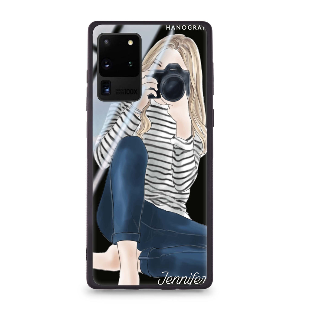 Camera girl II Samsung Glass Case