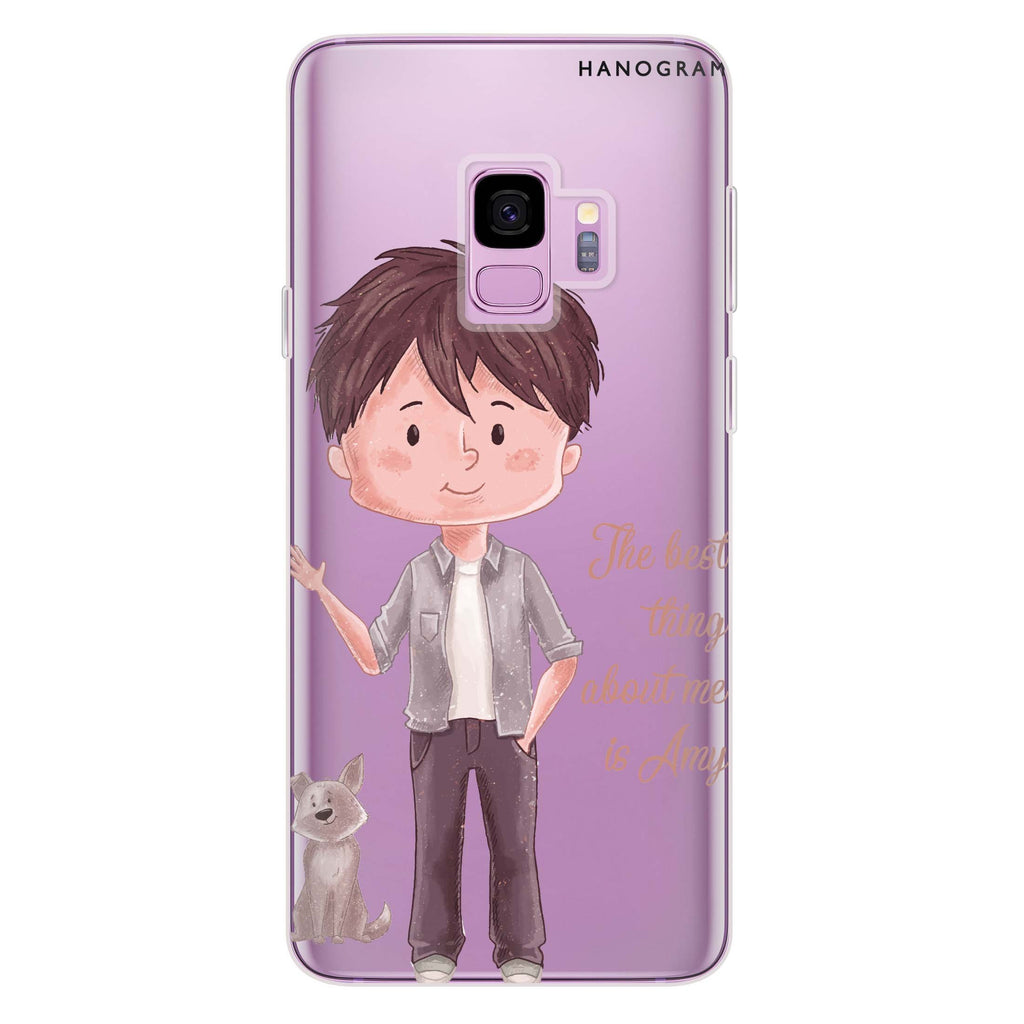 The best thing about you Boy Samsung S9 Soft Clear Case