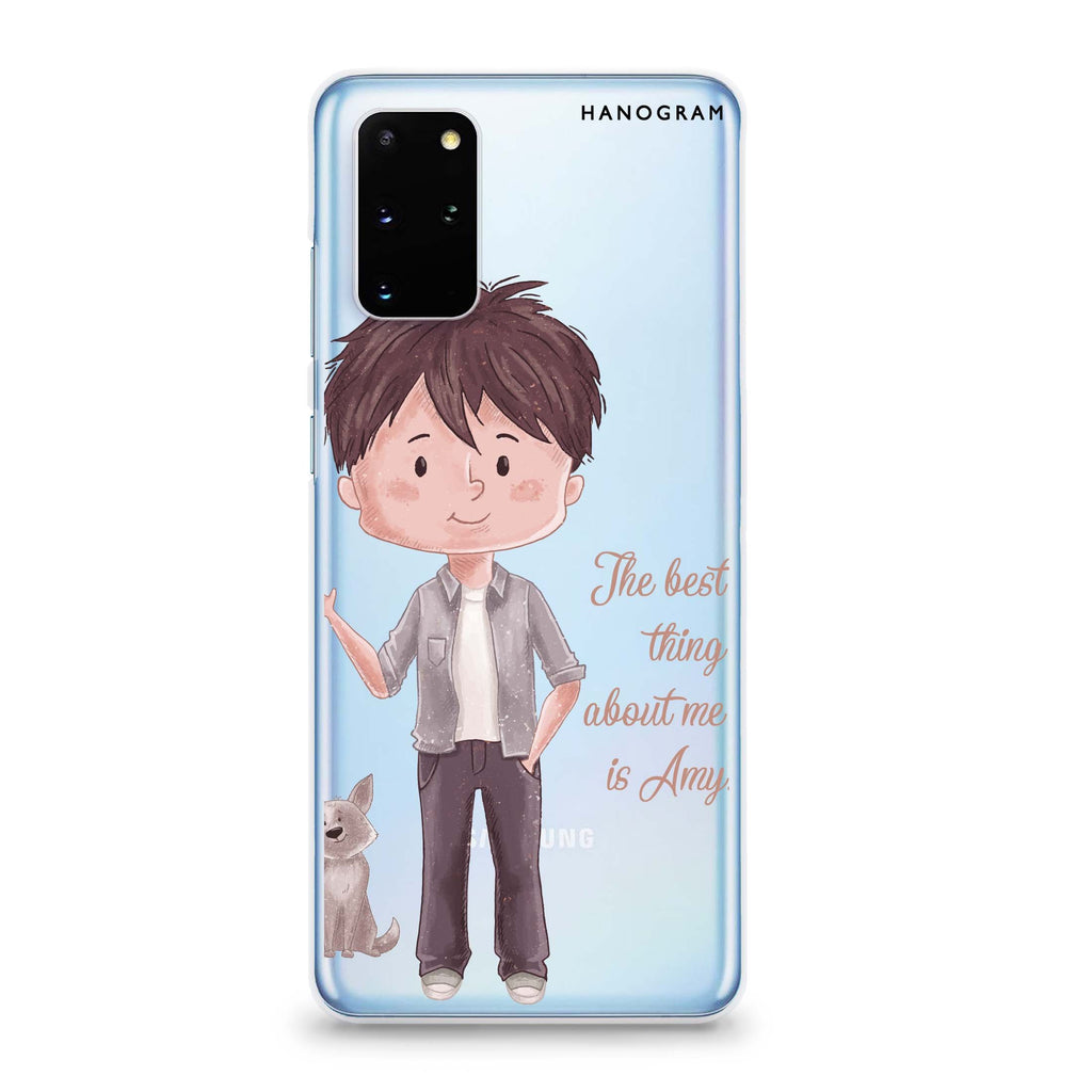 The best thing about you Boy Samsung S20 Soft Clear Case