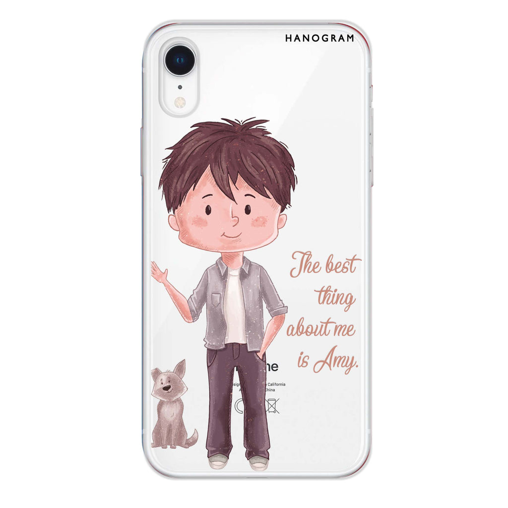 The best thing about you girl iPhone XR Soft Clear Case