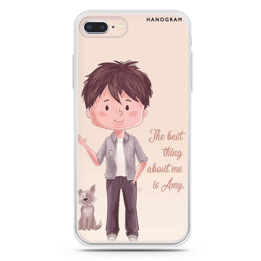 The best thing about you girl iPhone 8 Soft Clear Case