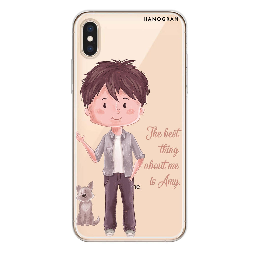 The best thing about you girl iPhone XS Soft Clear Case