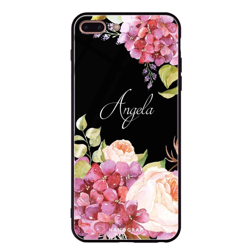 Pretty Floral iPhone 8 Plus Glass Case