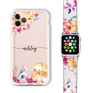 Art of Flowers - Frosted Bumper Case and Watch Band