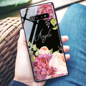 Pretty Floral Samsung S10 Plus Glass Case