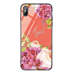 Pretty Floral Living Coral Glass Case