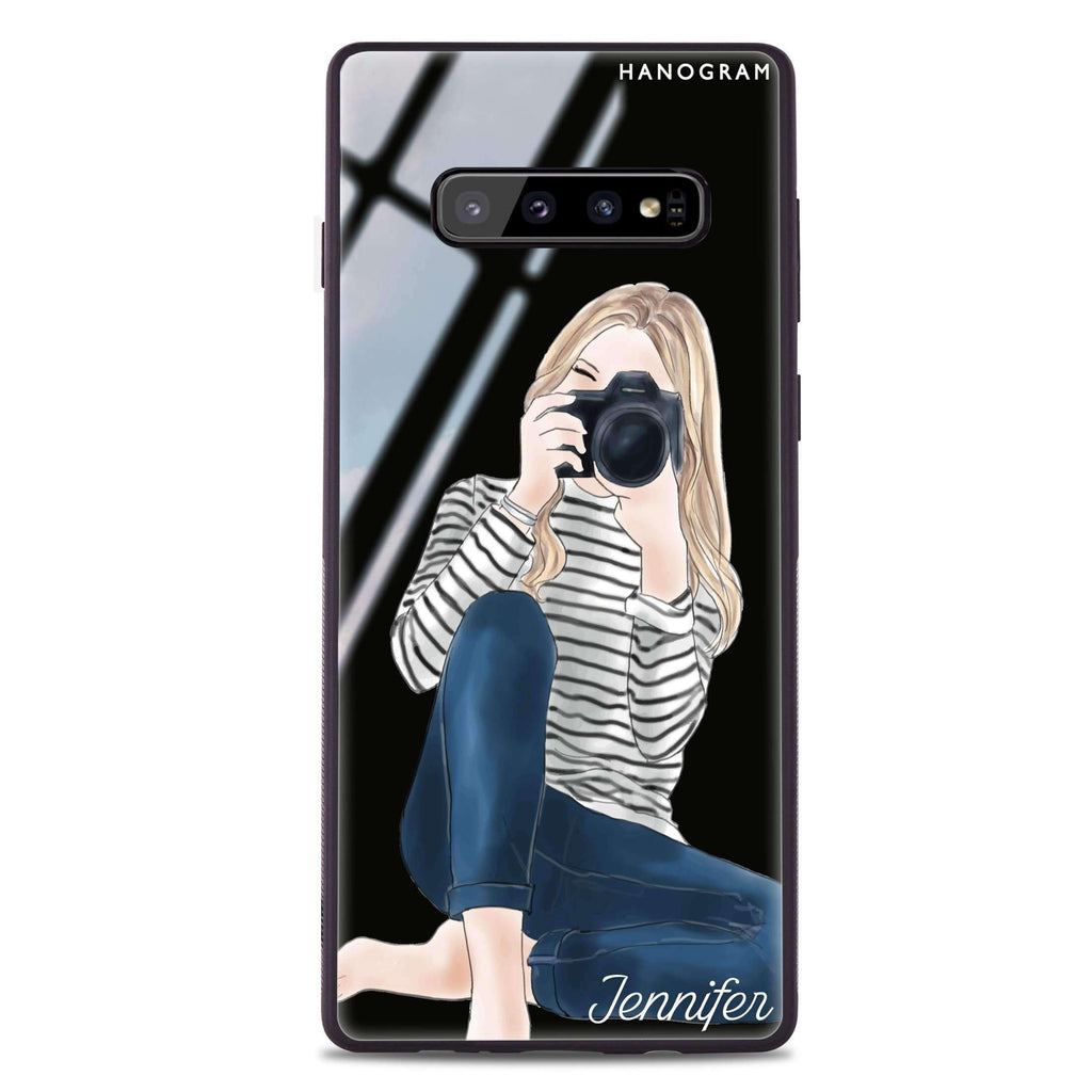 Camera girl II Samsung S10 Plus Glass Case