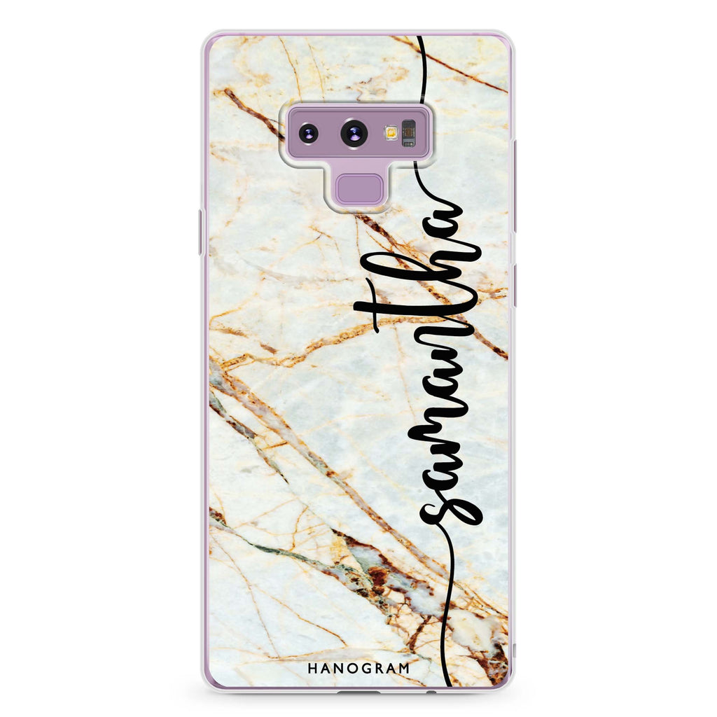 Marble Edition III Samsung Note 9 Soft Clear Case