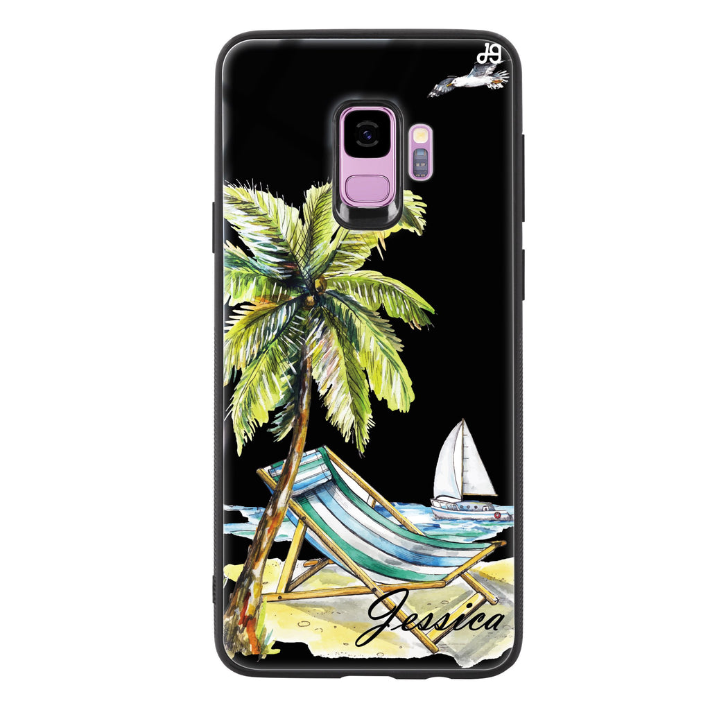 Summer on the beach Samsung S9 Glass Case