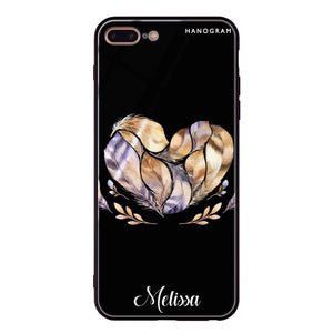 Feather Heart iPhone 8 Plus Glass Case