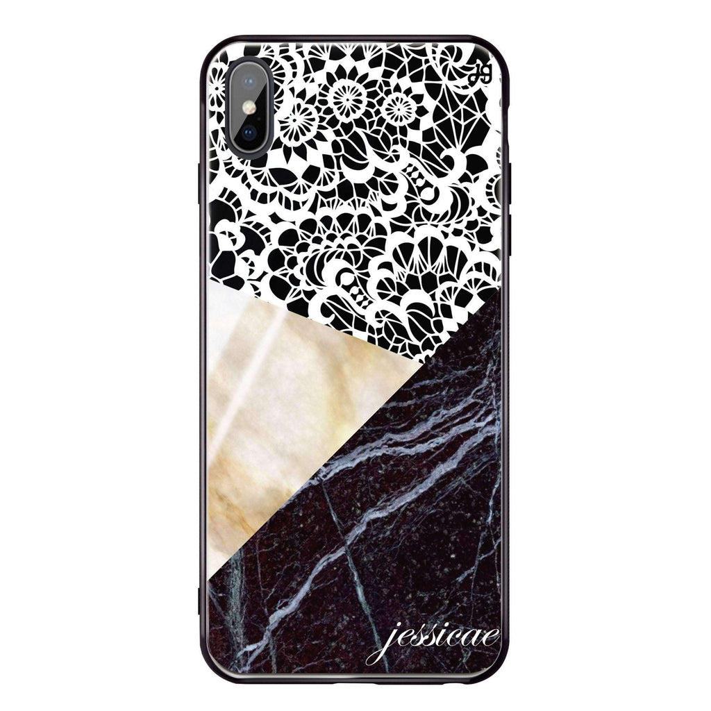 Marble Lace iPhone XS Max Glass Case