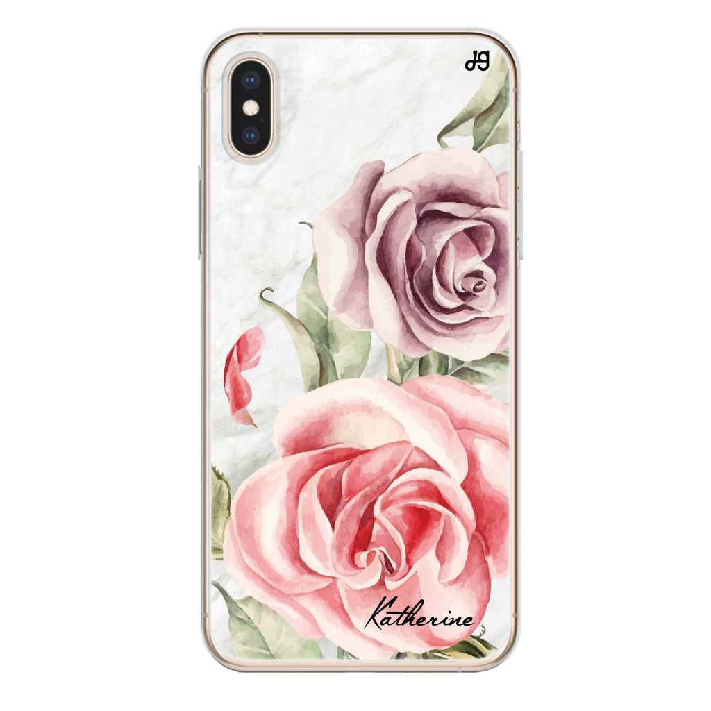Marble & Rose iPhone XS Soft Clear Case