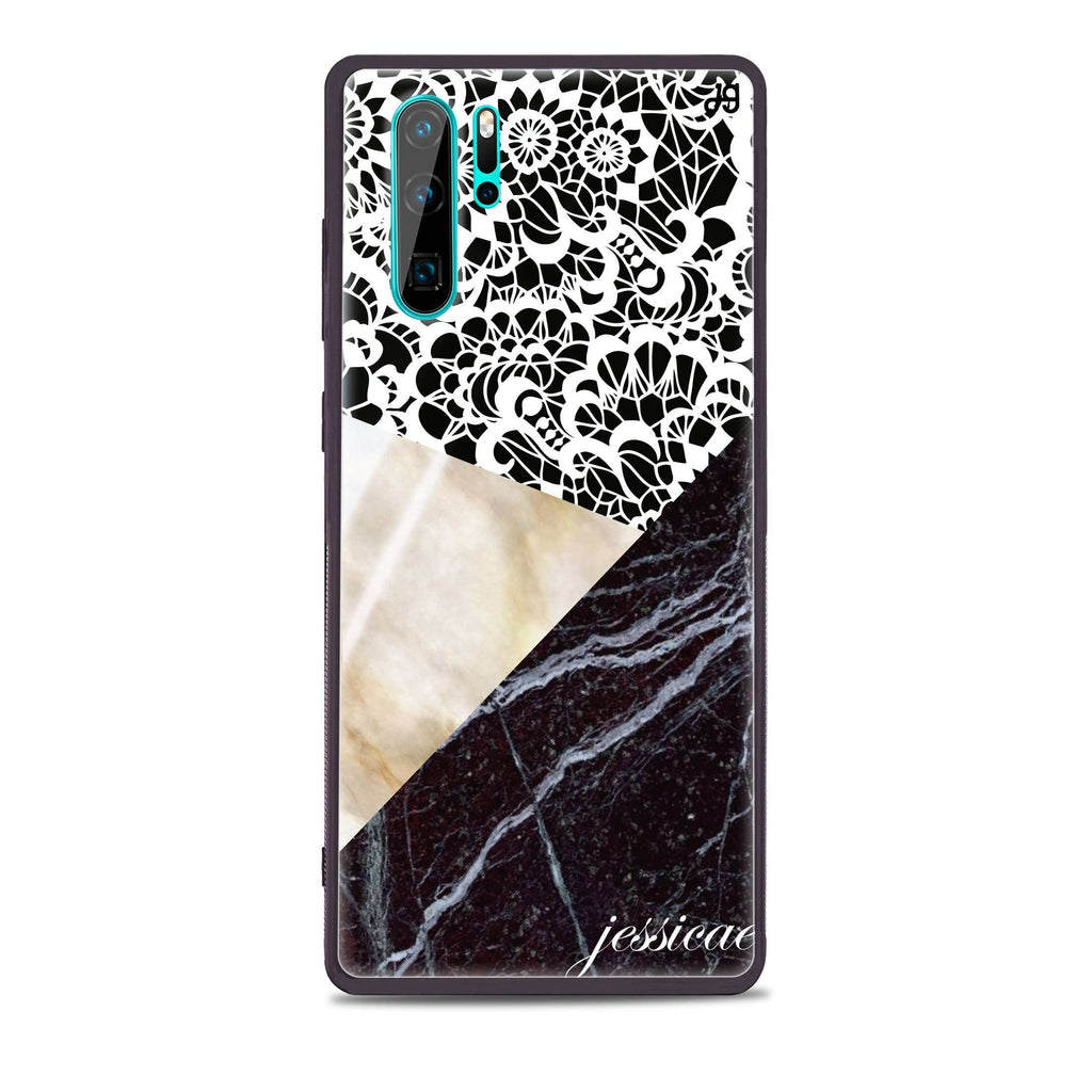 Marble Lace Huawei Glass Case