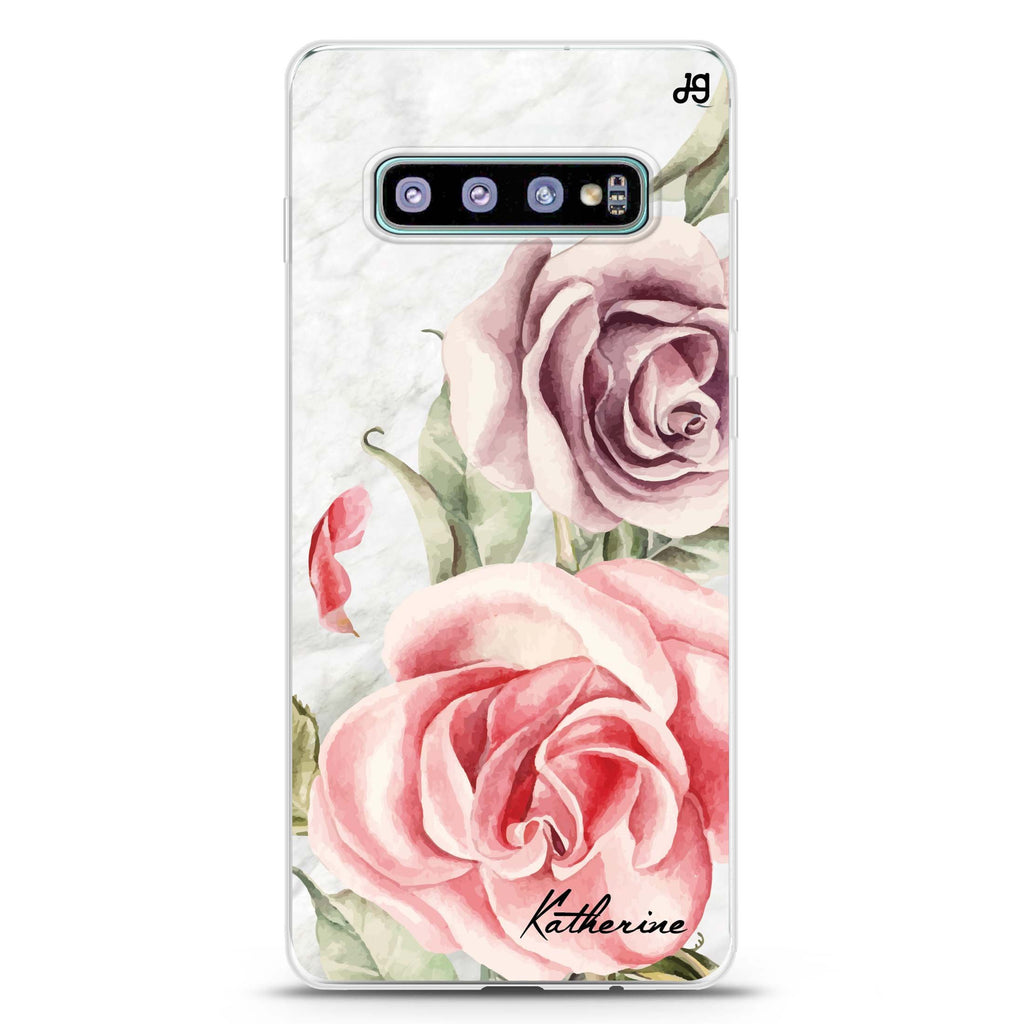 Marble & Rose Samsung S10 Plus Soft Clear Case