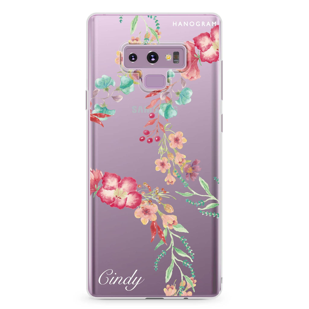 Spring Flowers Samsung Note 9 Soft Clear Case