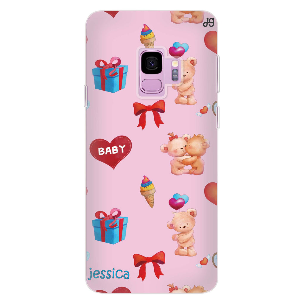 Cute Bear Present Samsung S9 Soft Clear Case