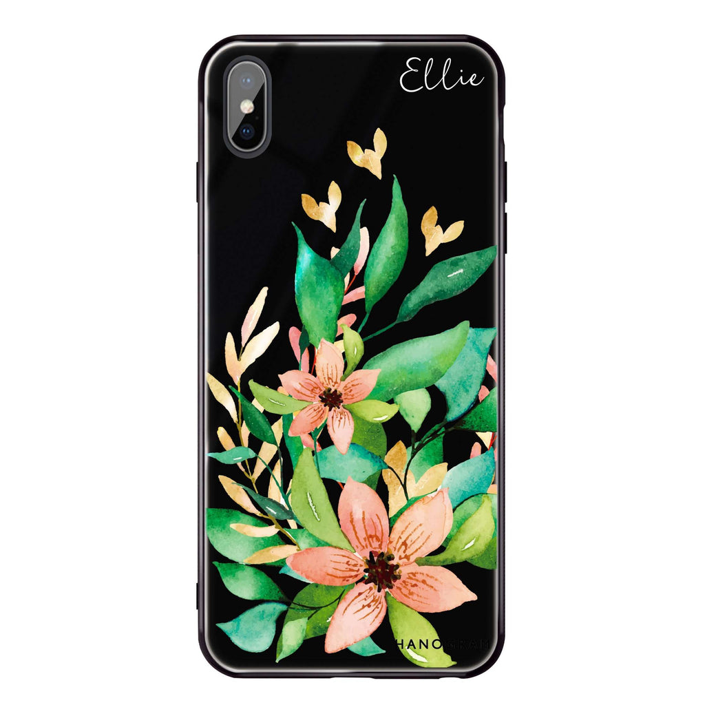 Floral Bloom iPhone XS Max Glass Case
